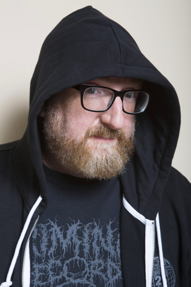 Brian Posehn photographed at home August 2015.